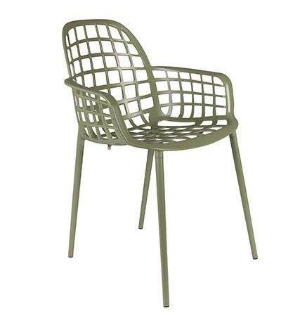 Кресло Albert Kuip Garden Green из алюминия