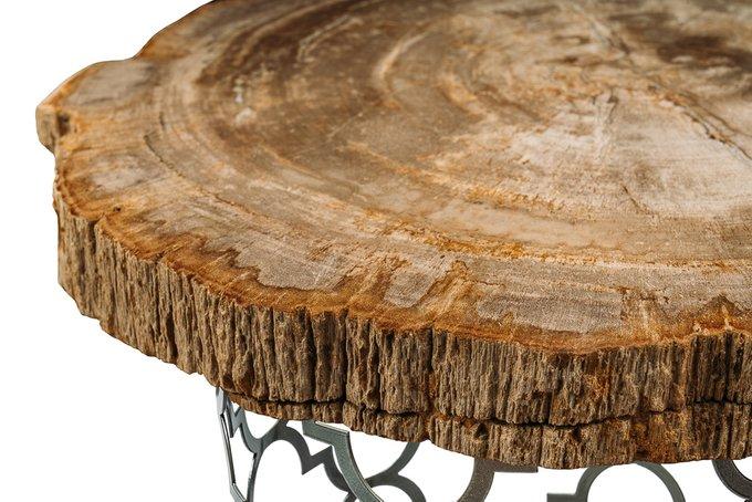 Журнальный стол Палиат из окаменелого дерева 381222