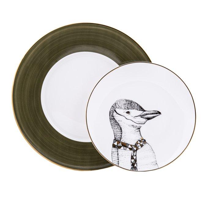 Набор из двух фарфоровых тарелок Пингвин