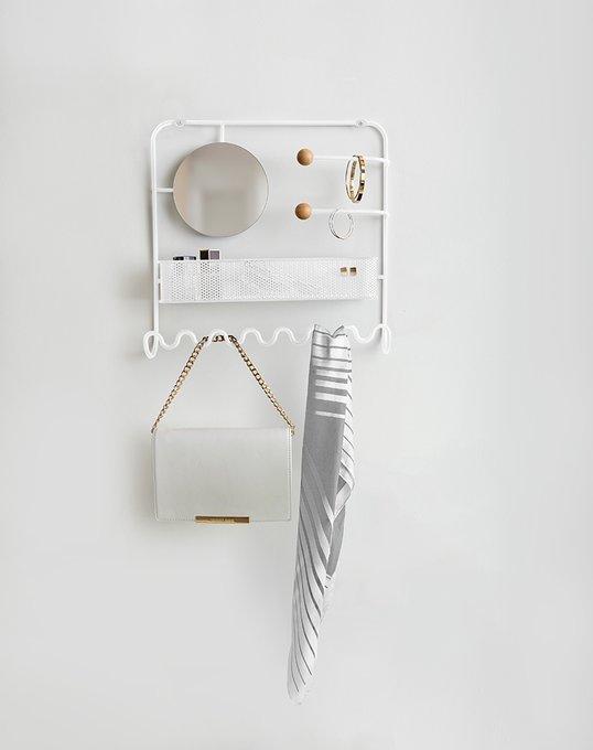 Органайзер для украшений надверный Alessi estique белый