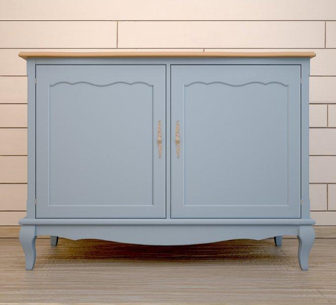 """Комод """"Leontina"""" голубой с дверками"""