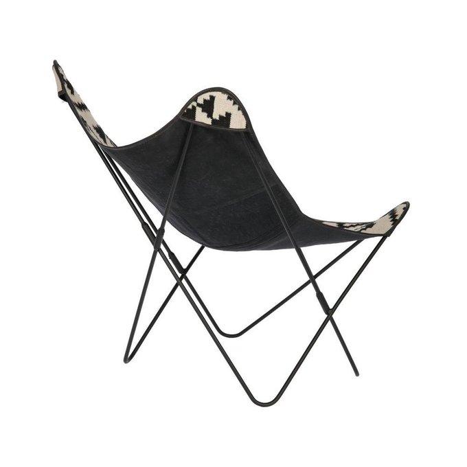 Стул-кресло Flynn черно-белого цвета