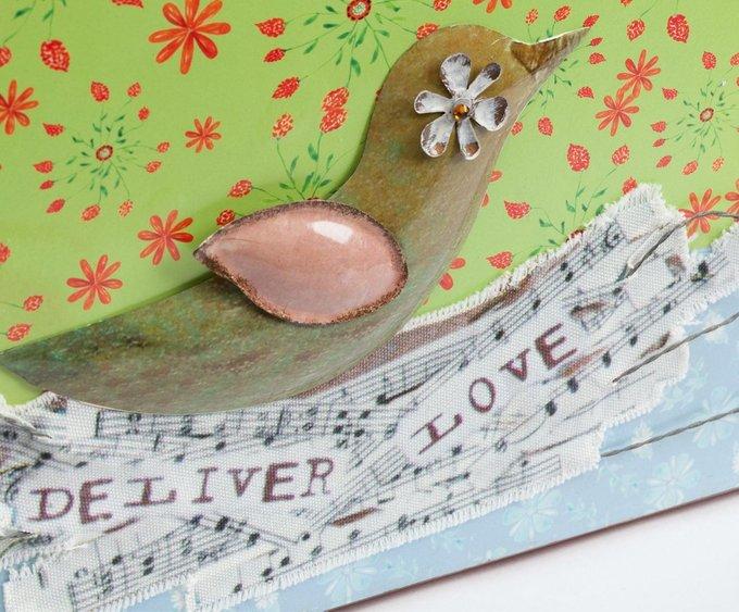 Декоративная подставка для журналов и газет Deliver Love