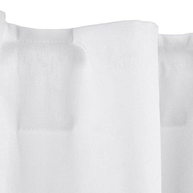 Штора Tama из льна и хлопка со скрытыми клапанами белого цвета 220x145