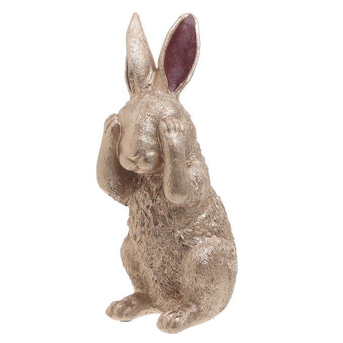 Статуэтка Кролик розово-золотого цвета