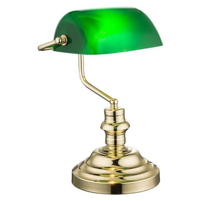 Настольная лампа Antique из металла и стекла