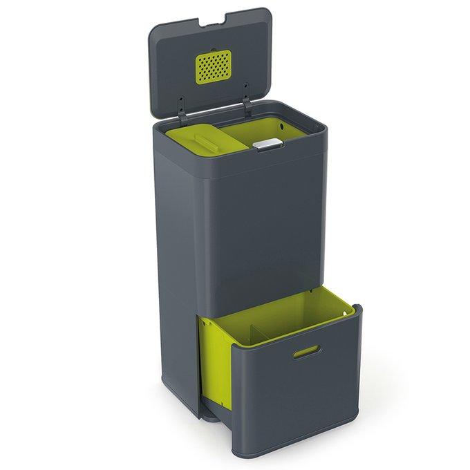 Контейнер для сортировки мусора Joseph Joseph totem 60 л графит