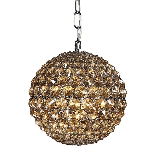 Подвесной светильник Illuminati Corso из множества кристаллов янтарного цвета