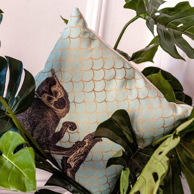 Интерьерная подушка Самая красивая бирюзового цвета