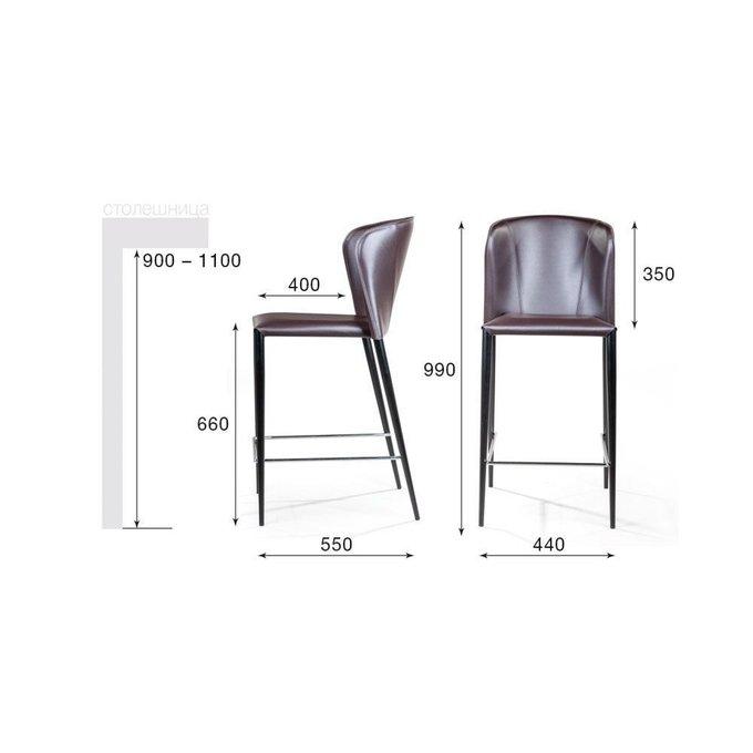 Полубарный стул Albert серого цвета