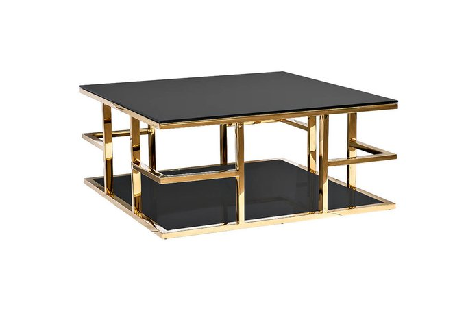 Журнальный стол черно-золотого цвета