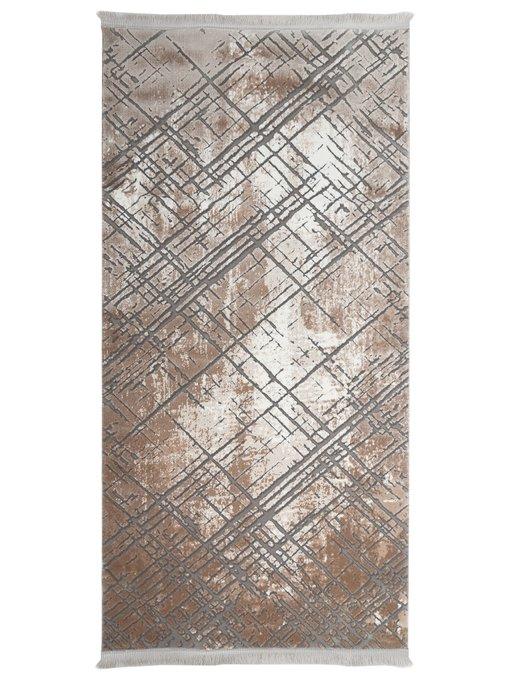 Ковер Estrella серо-коричневого цвета 100x200