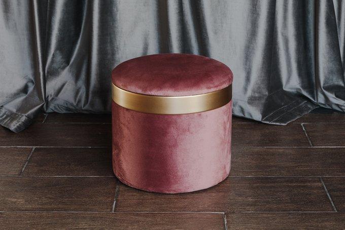 Пуф розового цвета с крышкой