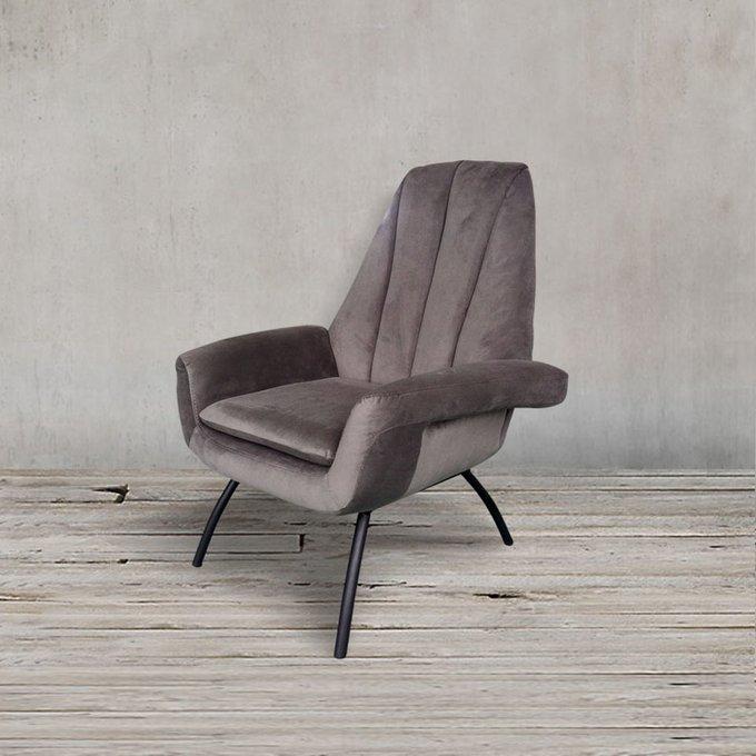 Кресло Бардокс серого цвета
