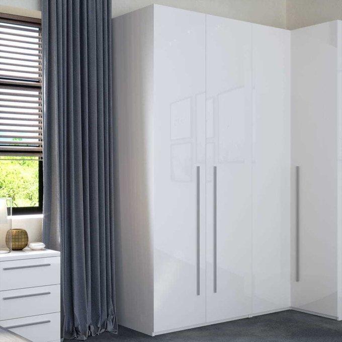 Шкаф распашной дополнительный Piano белого цвета