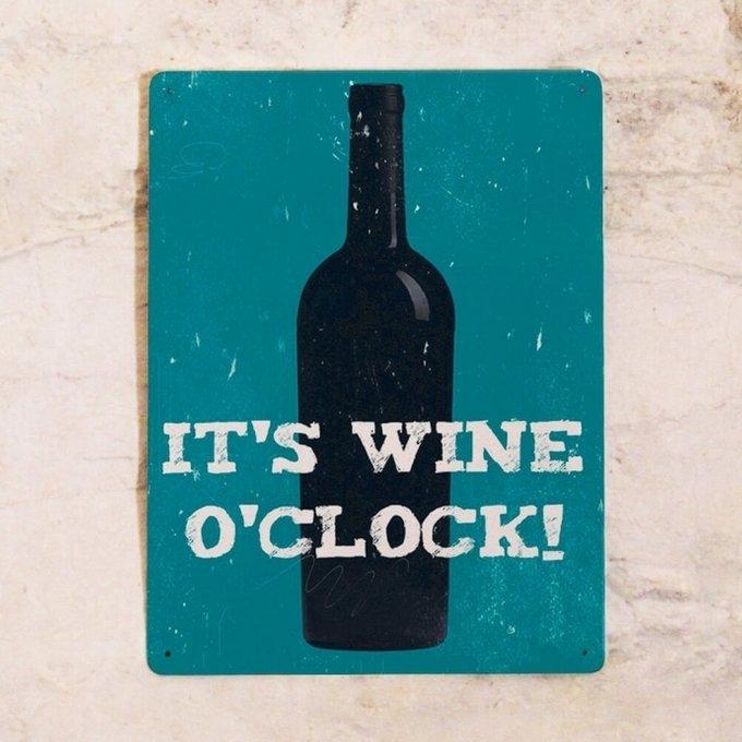 Жестяная табличка для бара Вино