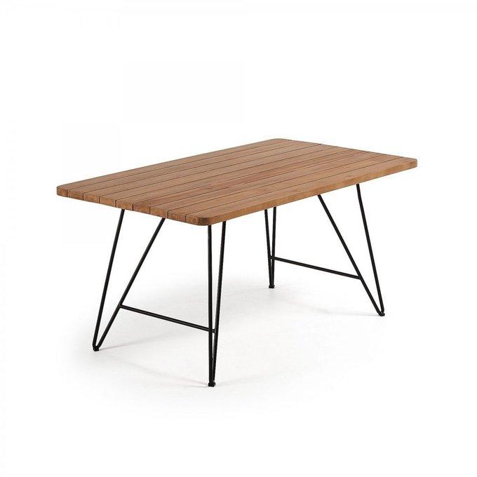 Обеденный стол Komme из массива тикового дерева
