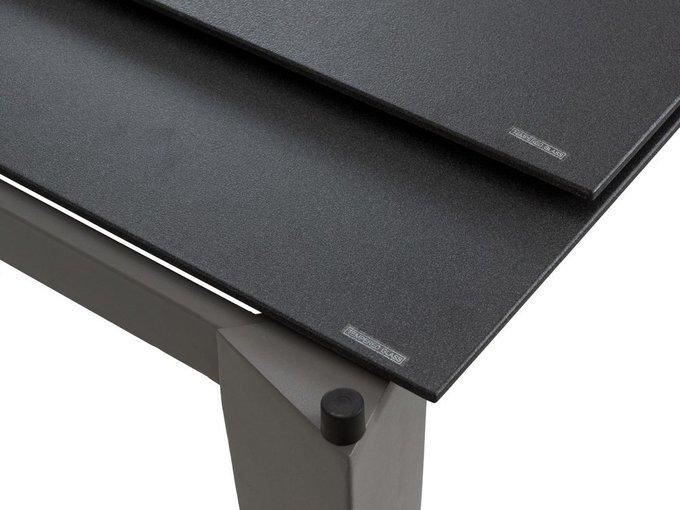Раздвижной обеденный стол Ernest со стеклянной столешницей