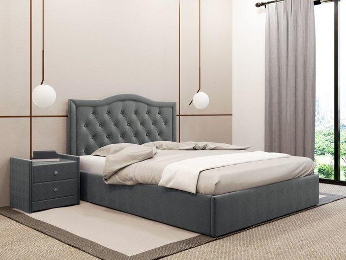Кровать Герцогиня графитового цвета 120х200 с подъемным механизмом
