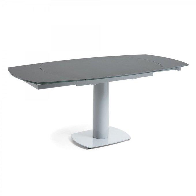 Раскладной обеденный стол Stеphame со столешницей из керамики и стекла