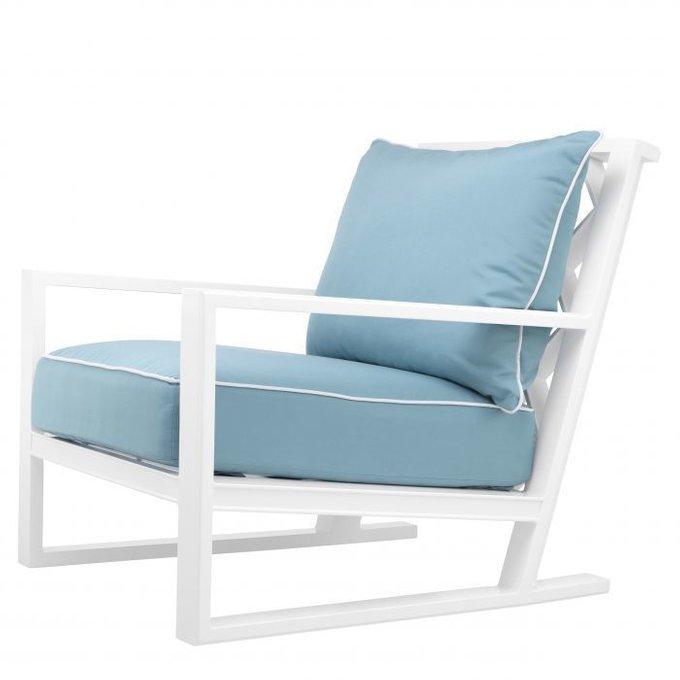 Кресло Como голубого цвета
