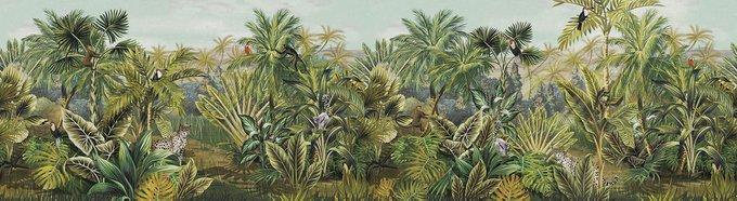 Фотообои Panoramic jungle зеленого цвета