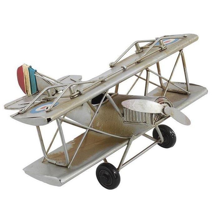 модель аэроплана металлическая