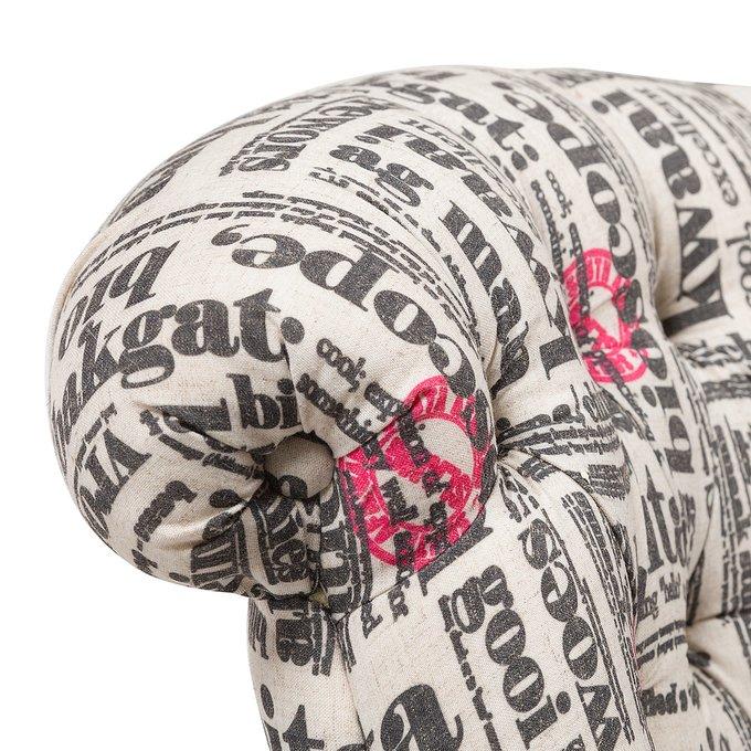 Кресло Amelie French из высококачественной ткани серого цвета