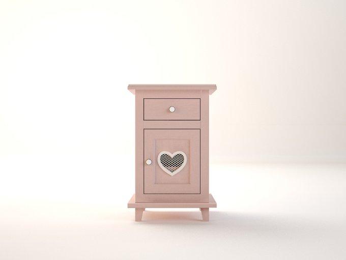 """Прикроватная тумба """"Adelina"""" в розовом цвете"""