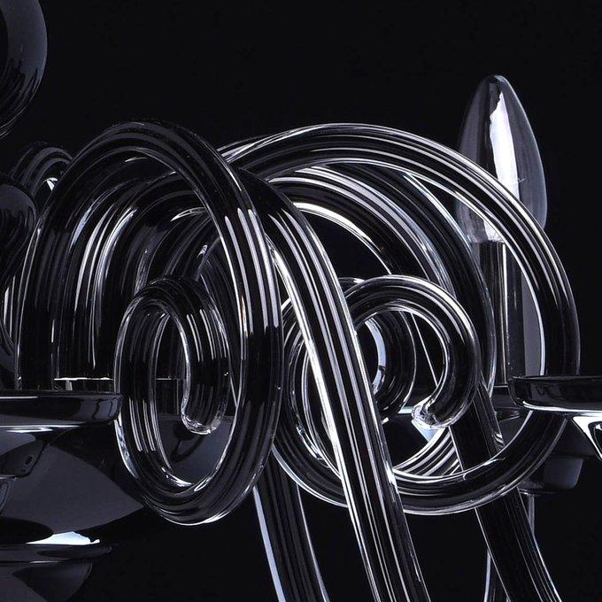Подвесная люстра Элла черного цвета