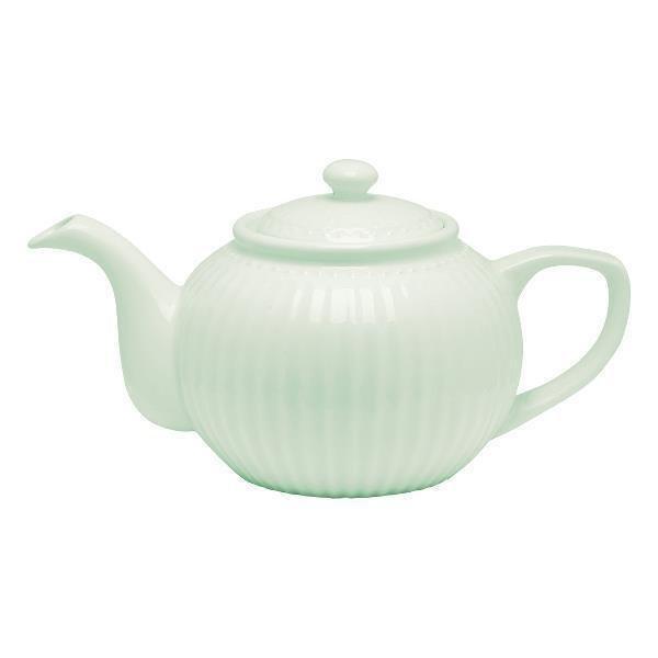 Чайник Alice pale green из высококачественного фарфора