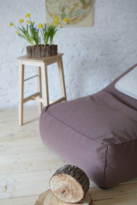 Кресло-лежак для двоих коричневого цвета