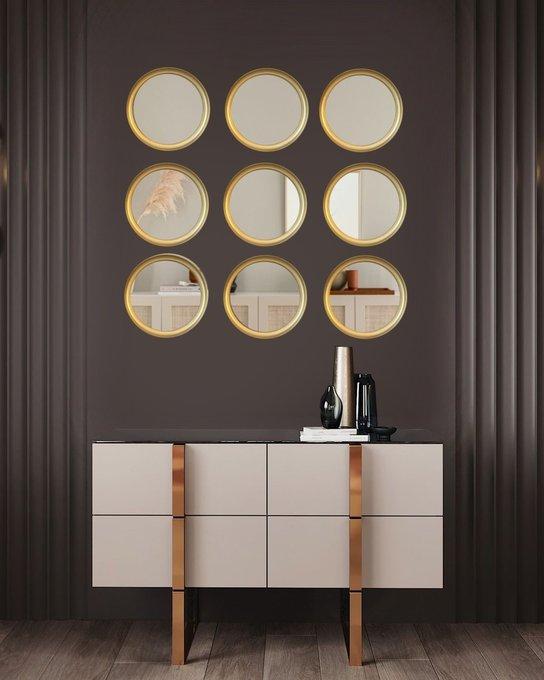 Настенное зеркало Ronda золотого цвета