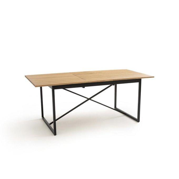 Обеденный раздвижной стол Nova с дубовой столешницей