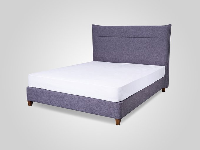 Кровать в обивке из ткани темно-серого цвета 160X200