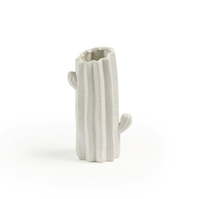 Ваза Lode Cactus высокая белого цвета