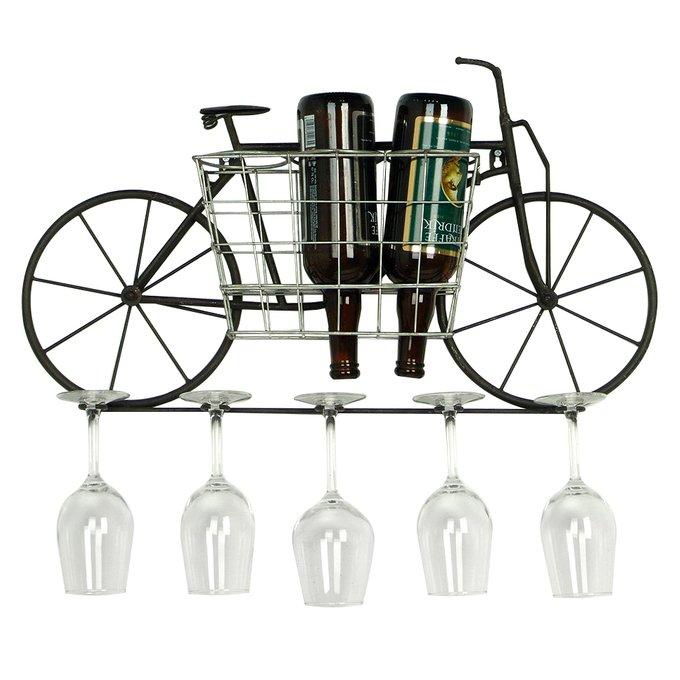 Декоративная полка-подставка для бутылок из металла