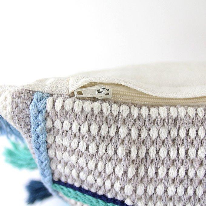 Чехол на подушку с этническим орнаментом из хлопка