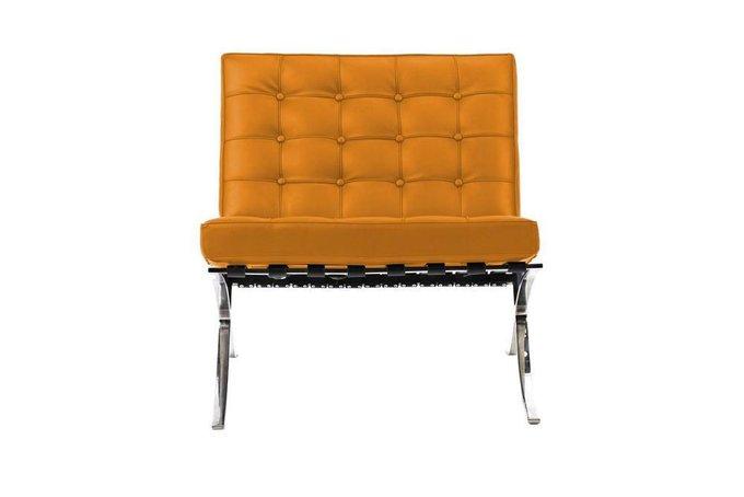 Кресло Barcelona Chair оранжевого цвета
