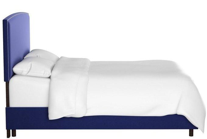 Кровать Everly Blue синего цвета 180х200