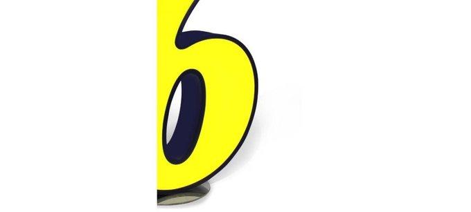 Светильник цифра 6