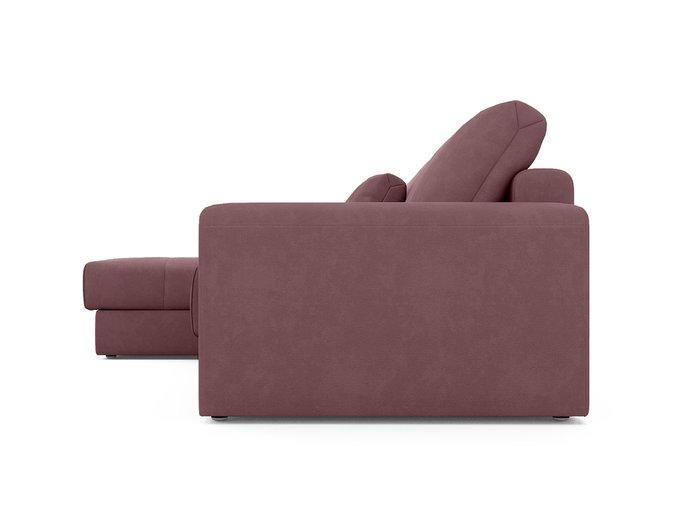 Угловой диван-кровать левый Ruiz темно-розового цвета