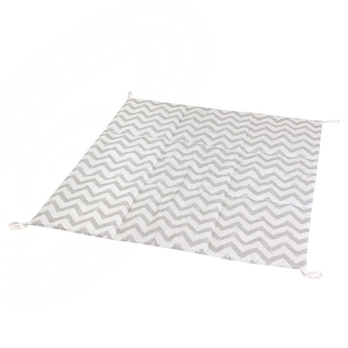 Стеганый игровой коврик Grey Zigzag