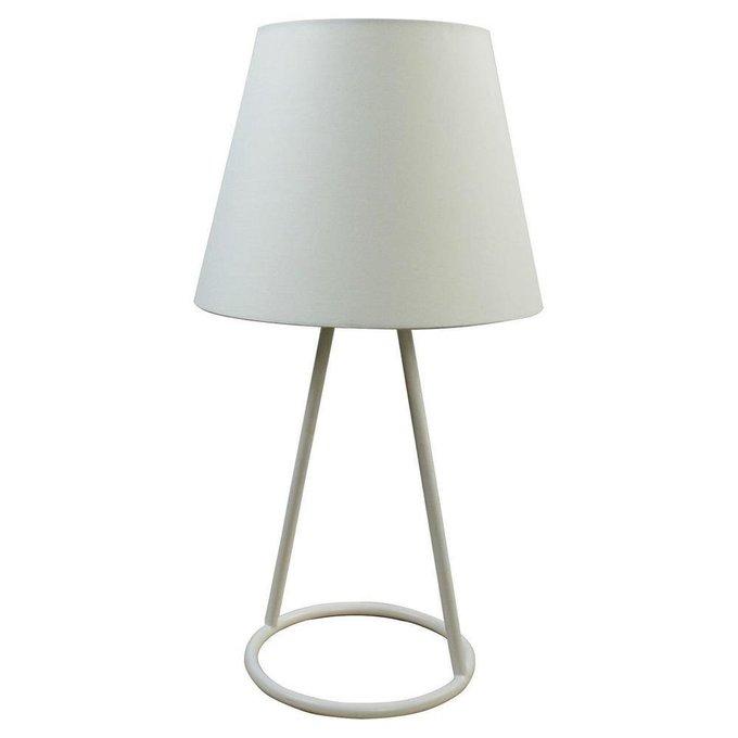 Настольная лампа с пластиковым плафоном