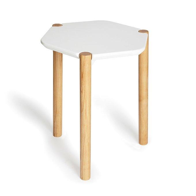 Приставной столик Lexy белый из дерева