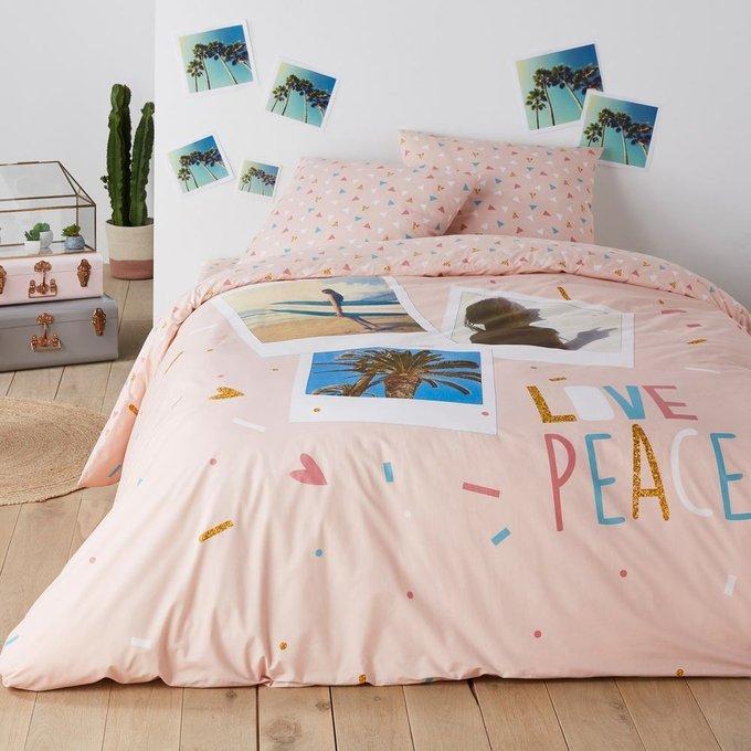 Пододеяльник Love Peace из хлопка 200x200