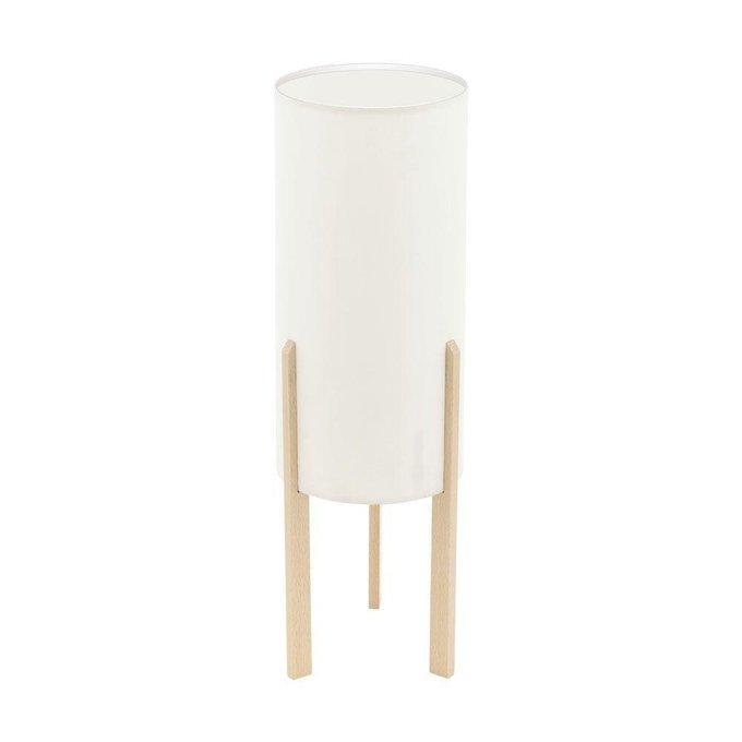 Настольная лампа Campodino на деревянных ножках
