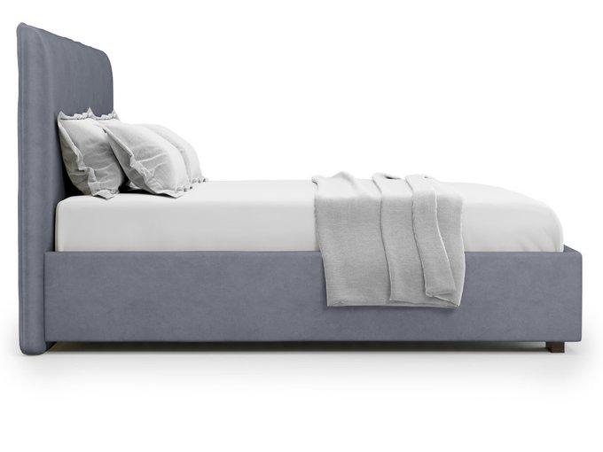 Кровать Brachano 160х200 серого цвета с подъемным механизмом