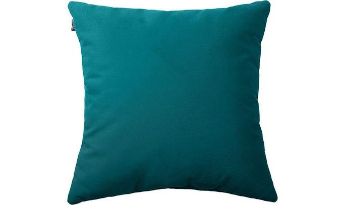 Подушка Velvet Teal бирюзового цвета