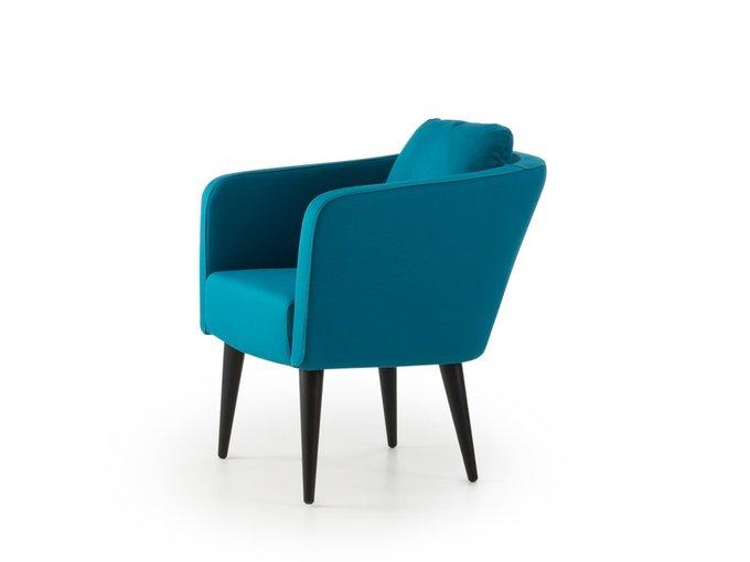 Кресло Алес синего цвета